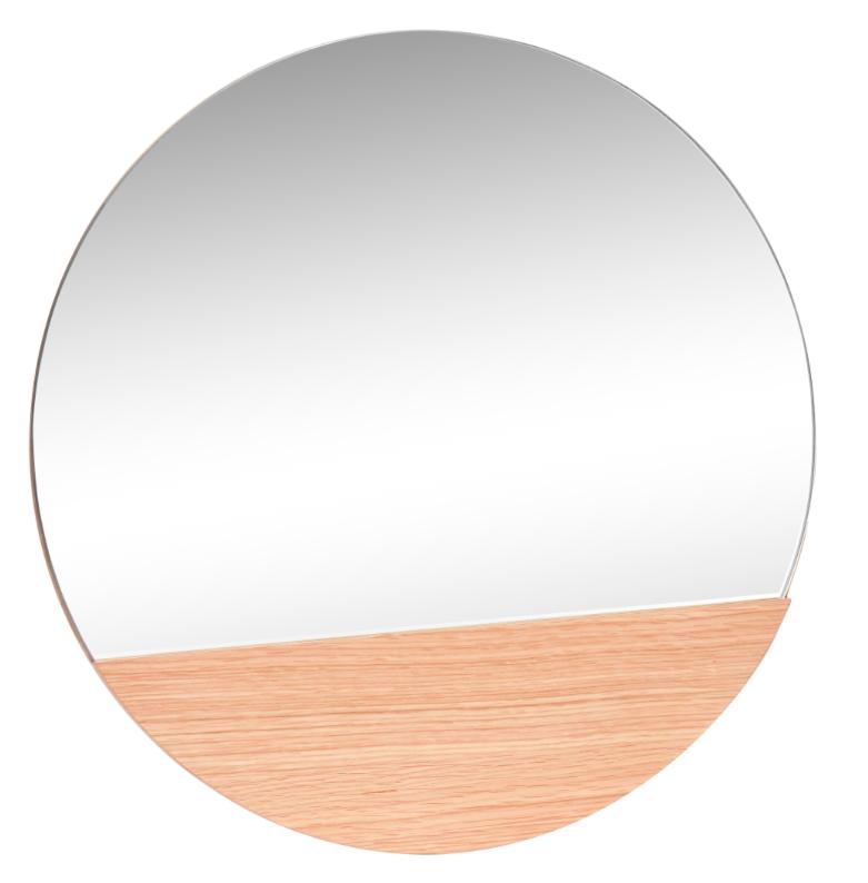 miroir rond avec bois hubsch site. Black Bedroom Furniture Sets. Home Design Ideas