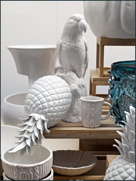 ananas c ramique blanc pols potten. Black Bedroom Furniture Sets. Home Design Ideas