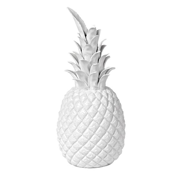 Ananas c ramique dor pols potten for Objet deco ananas