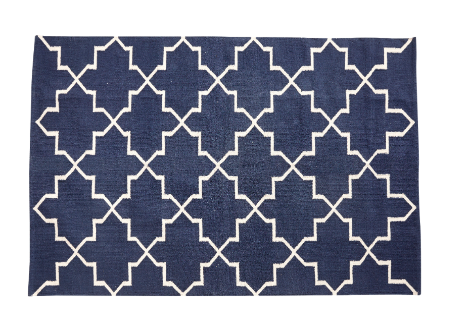 tapis graphique bleu hubsch site. Black Bedroom Furniture Sets. Home Design Ideas