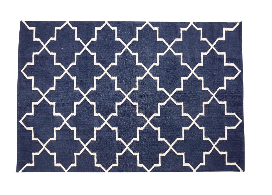 tapis graphique bleu hubsch site fran ais de vente d 39 objets de d coration. Black Bedroom Furniture Sets. Home Design Ideas