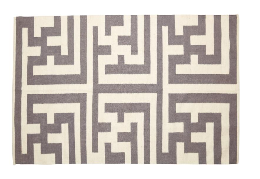 tapis graphique labirynthe hubsch site fran ais de vente d 39 objets de. Black Bedroom Furniture Sets. Home Design Ideas