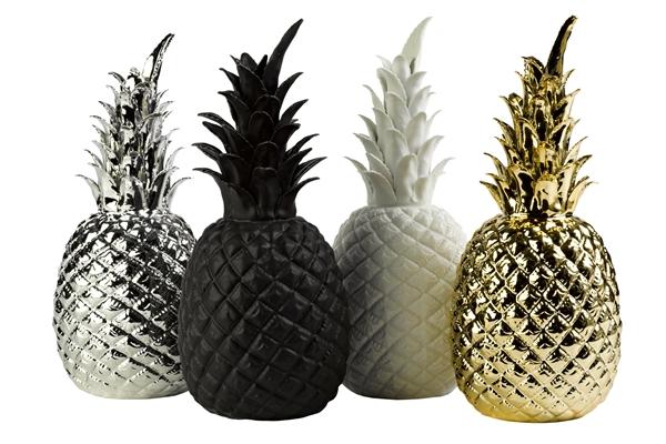 Ananas c ramique blanc pols potten Ananas dekoration