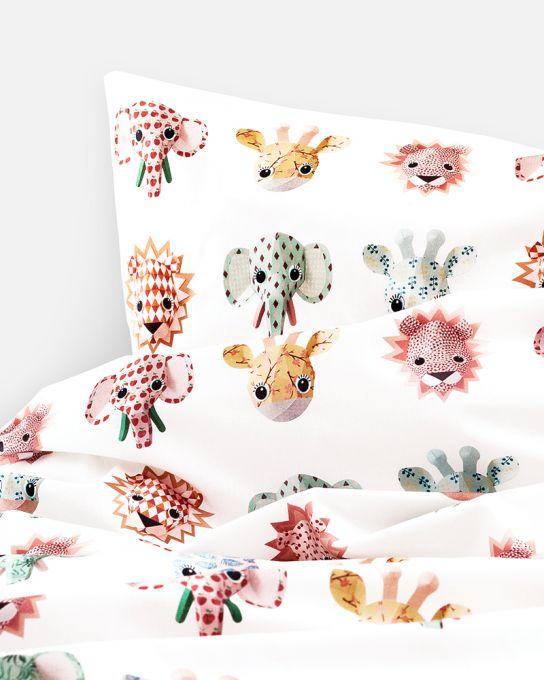 Housse de couette troph es animaux studio ditte www for Housse de couette animaux