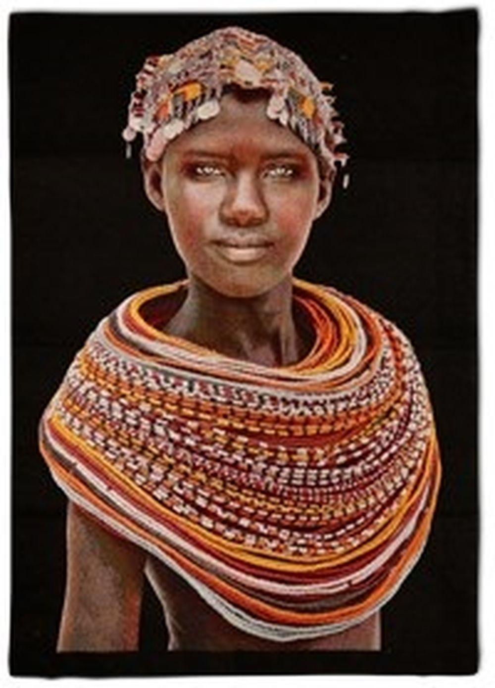 Tenture Africaine Grande Taille tenture samburu girl