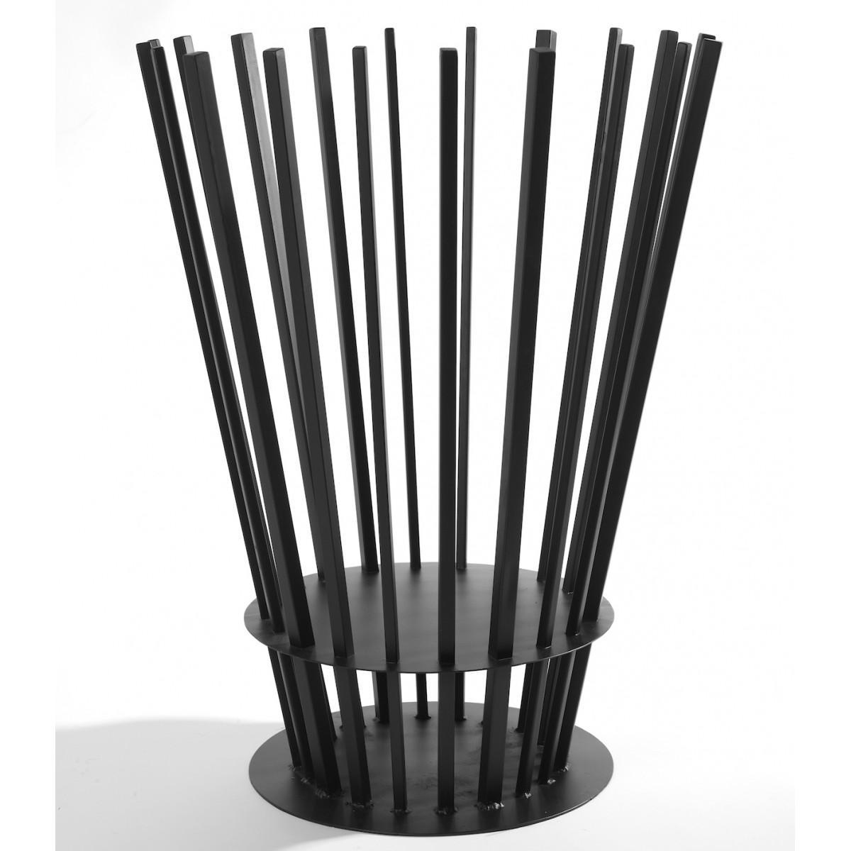 panier bras ro en m tal noir serax site fran ais de vente d 39 objets de. Black Bedroom Furniture Sets. Home Design Ideas